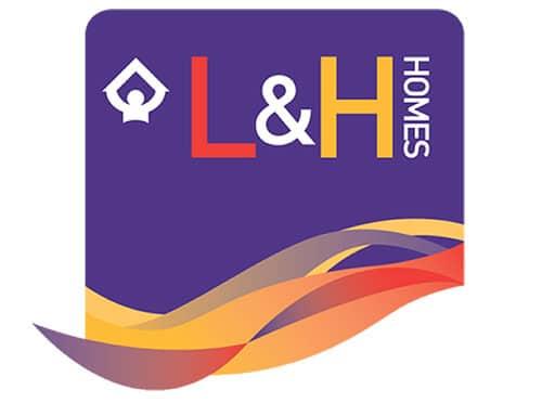 l&h homes logo