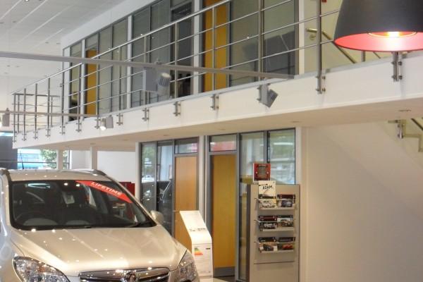 Corporate Identity Refresh to Vauxhall Showroom