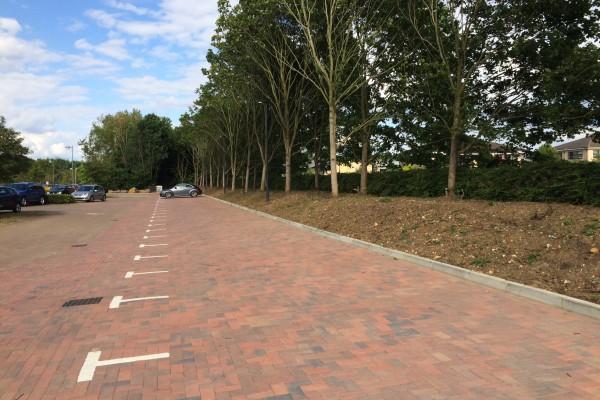 West Point car park block paved area