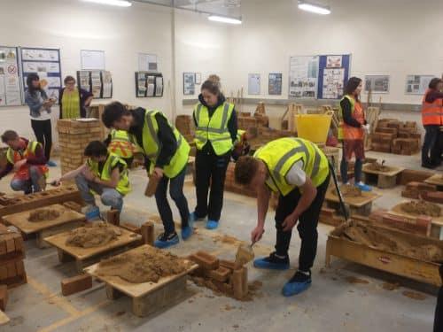 SLGTA skills event brick laying