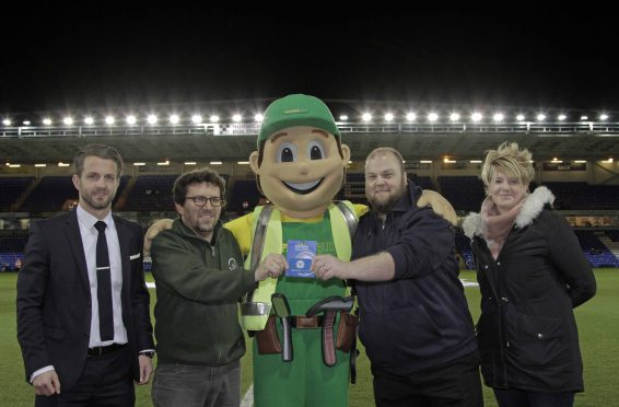 half time challenge winner donates prize to free kicks foundation